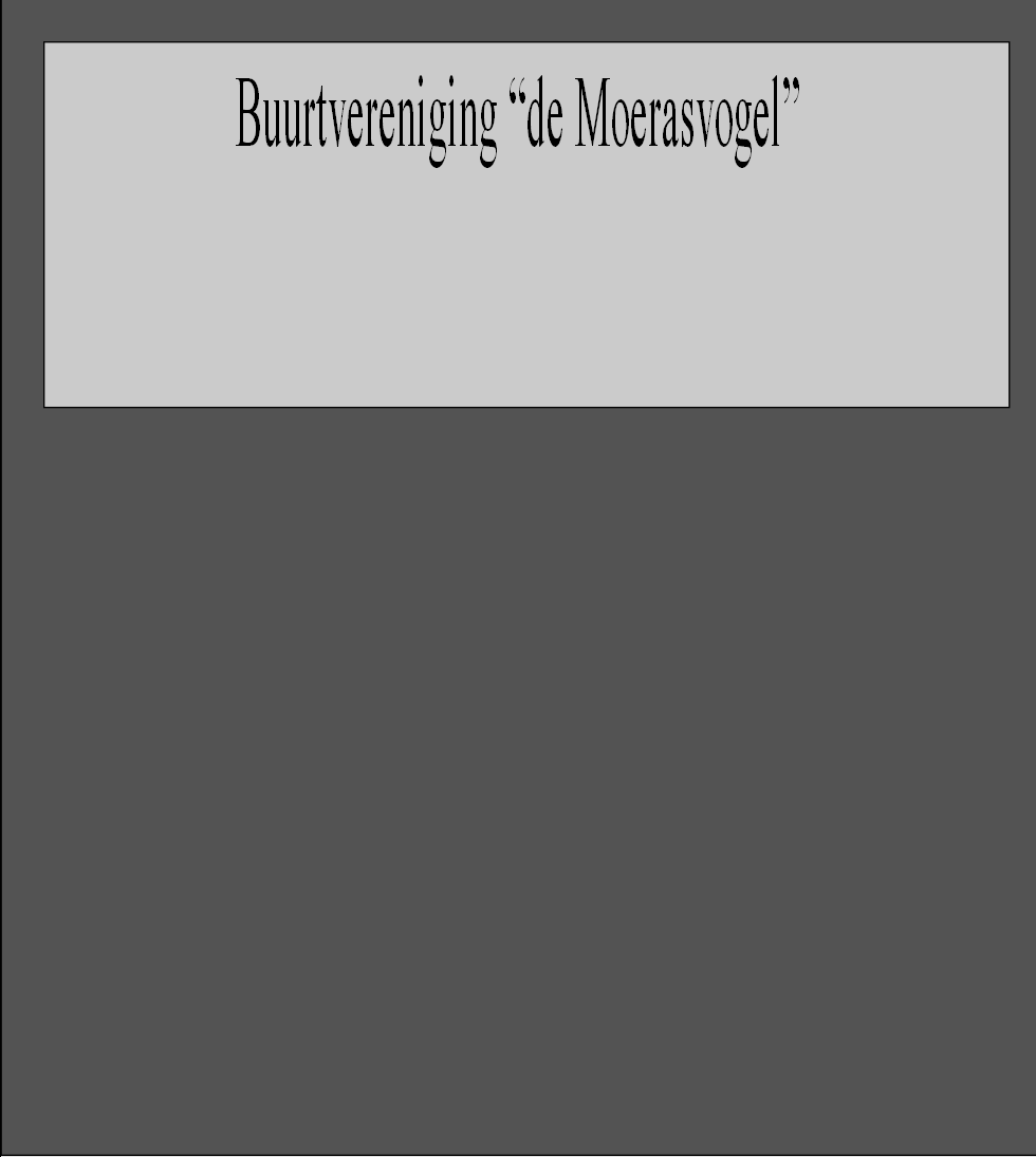 "Buurtvereniging ""de Moerasvogel"""